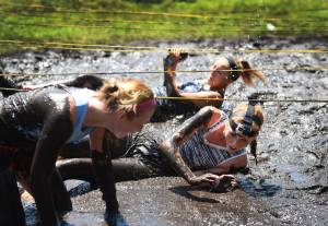 Getting muddy for the Madison Holleran Foundation