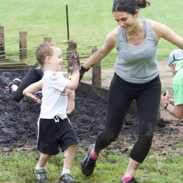 Riley PTSO Holds 2nd Annual Family-Friendly Mud Run