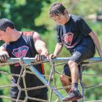 father and son mud run obstacles